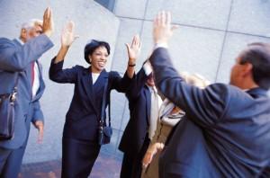 business-high-fives